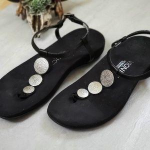 VIONIC black sandals Lizbeth 8